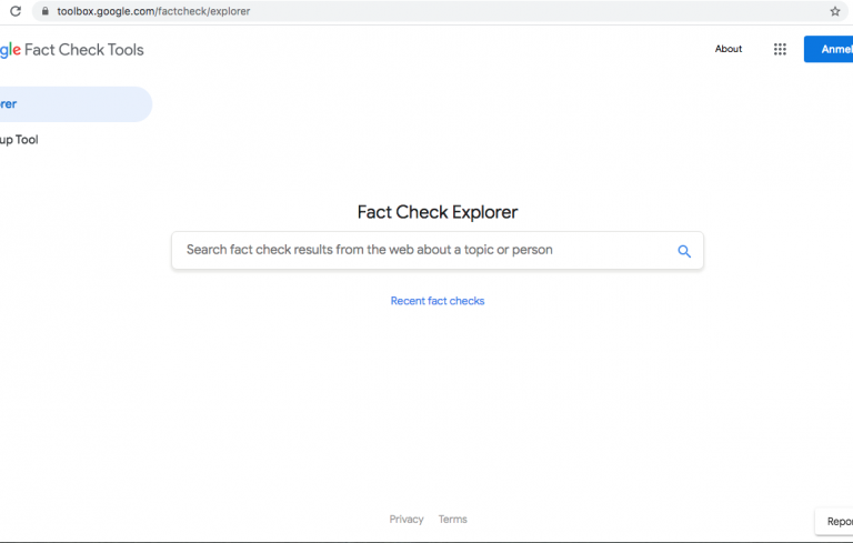Google Fact Check Explorer