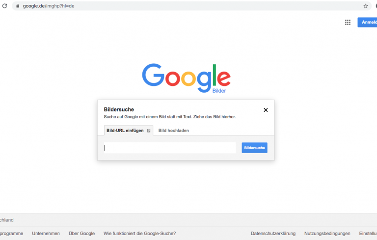 Google Bildersuche Screenshot